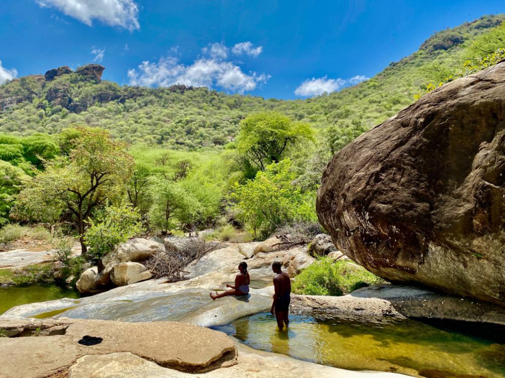 Sliding rocks of Ngurunit river