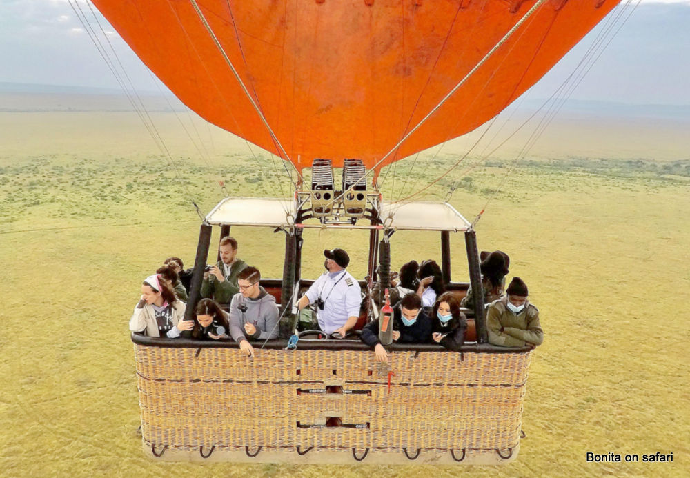 The maasai mara migration in a hot air balloon by Bonita on safari